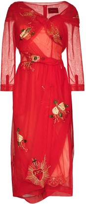 Simone Rocha 50th Asymmetric Wrap Tulle Dress