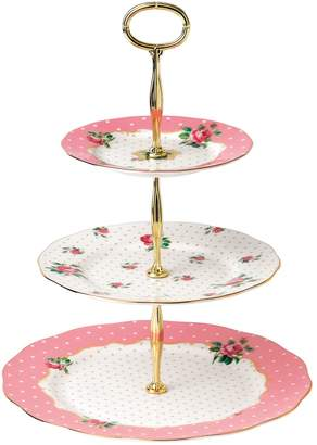 Royal Albert Cheeky Pink Three-Tier Cake Stand