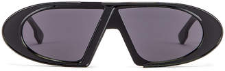 Christian Dior Dioroblique Small Sunglasses in Black & Gray | FWRD