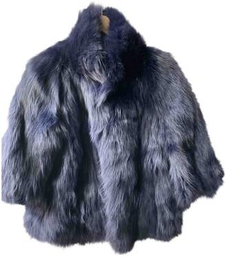 Guy Laroche Blue Fur Jackets