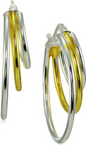 Giani Bernini Two-Tone Triple Hoop Earrings, Created for Macy's