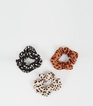 New Look 3 Pack Spot Scrunchies