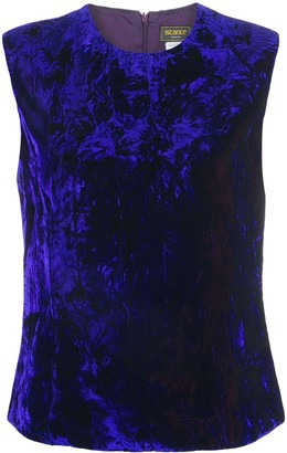 Versace Pre-Owned crushed velvet top