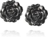 Alex Monroe Rosa Damasca ruthenium-plated earrings
