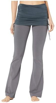Hard Tail Tie Skirt Boot Leg Flare Pants (Earl Grey) Women's Casual Pants