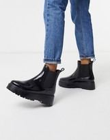 Asos DESIGN Gadget chunky chelsea rain boots in black