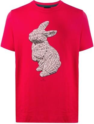 Paul Smith bone bunny print T-shirt