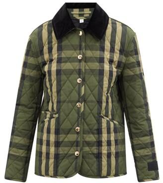 Burberry - Dranefeld Vintage-check Diamond Quilted Jacket - Dark Green