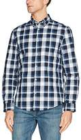 Ben Sherman Men's LS Poplin Check Casual Shirt