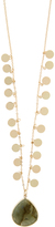 Accessorize Jangly Coin Stone Long Pendant Necklace