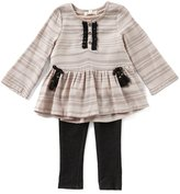 Jessica Simpson Baby Girls 12-24 Months Tassel Long-Sleeve Top & Jeggings Set