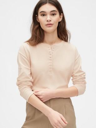 Gap Originals Mariner Henley Long Sleeve T-Shirt