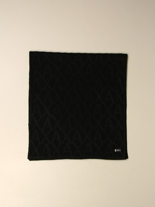 Armani Exchange Scarf With All Over Logo