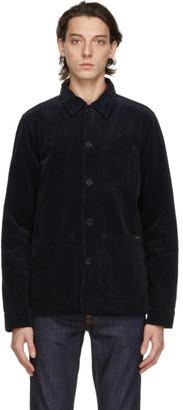 Nudie Jeans Navy Corduroy Barney Worker Jacket