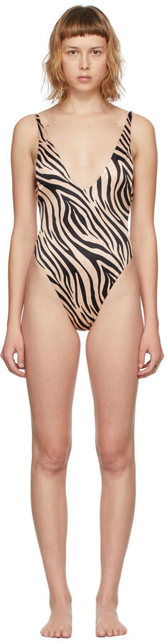 Thumbnail for your product : BOUND by Bond-Eye Beige Zebra Ring It In Swimsuit