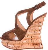 Alexa Wagner Suede Wedge Sandals