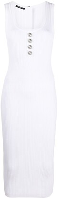 Balmain Fitted Ribbed Dress