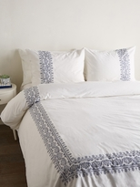 Melange Home Sanya Embroidered Cotton Duvet Cover Set