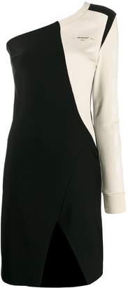 Off-White logo off the shoulder dress