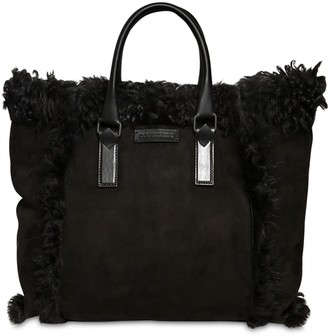 DSQUARED2 VICTORIA SMALL SHEARLING TOTE BAG