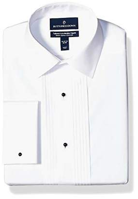 Buttoned Down Tailored Fit Easy Care Bib-front Spread-collar Tuxedo Shirt