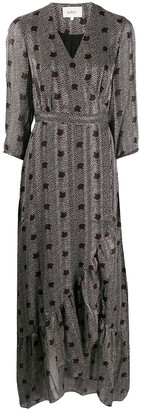 BA&SH Pisy geometric print dress