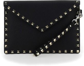 Valentino Rockstud Medium Envelope Pouch Bag