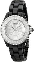 Akribos XXIV Women's AKR457BK Lady Diamond Collection Ceramic Swiss Quartz Watch