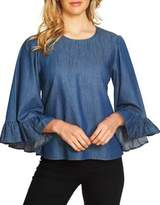 CeCe Denim Shirting Blouse