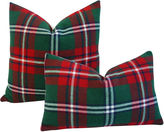 One Kings Lane Vintage Scottish Tartan Plaid Wool Pillows, S/2
