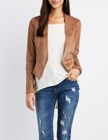 Charlotte Russe Faux Suede Collarless Blazer