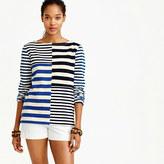 J.Crew Patchwork-striped T-shirt