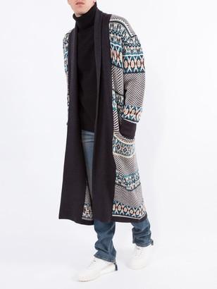 Alanui Cactus Elbow Patch Cashmere Sweater Black