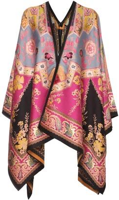 Etro Paisley Wool Blend Jacquard Shawl