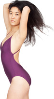 American Apparel Nylon Tricot Triangle Top One-Piece Swimsuit