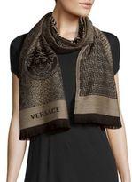 Versace Patterned Woolen Scarf