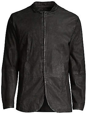John Varvatos Men's Slim Leather Jacket