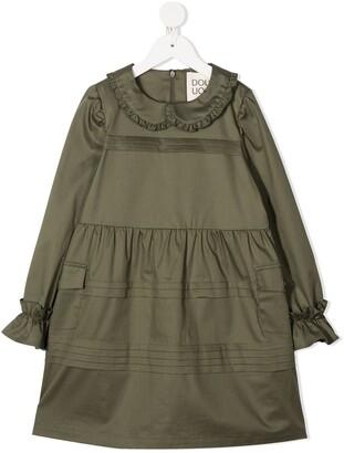 Douuod Kids Ruffle-Trim Midi Dress