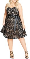 City Chic Plus Size Women's So Lovely Strapless Lace Dress