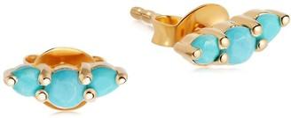 Missoma Turquoise Trio Stud Earrings