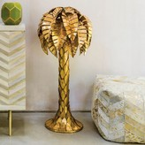Graham and Green Gold Tropicana Palm Tree Floor Lamp