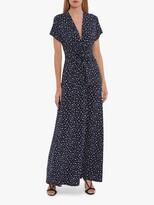 Thumbnail for your product : Gina Bacconi Doria Spot Print Maxi Dress, Navy/White