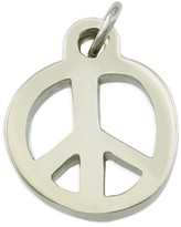 Peace Love World Small Silver Peace Necklace Charm