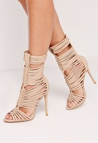 Missguided Ultra Strappy Gladiator Nude