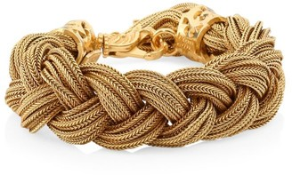 Emanuele Bicocchi 24K Yellow Goldplated Sterling Silver Braided Bracelet