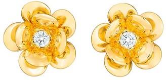 GUITA M 18kt Yellow Gold And Diamond Flower Studs