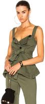 Marissa Webb Lani Top in Green.