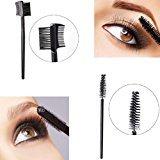 Makeup Tools, TONSEE Single-head Screw Eyelash Brush+Double Eyebrow Comb Brush Makeup Set Tools