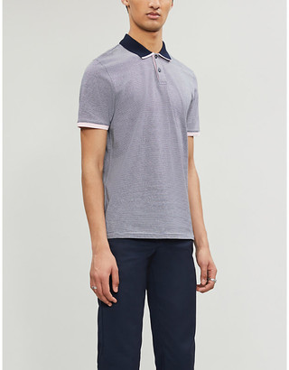 Ted Baker Caffine striped slim-fit cotton polo shirt