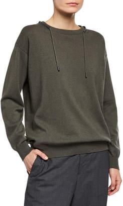 Brunello Cucinelli Monili-Beaded Wool-Cashmere Sweater